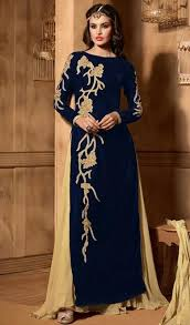 blue velvet narrow pant suit with dupatta narrow pant salwar