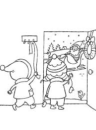welcoming santa claus coloring page christmas coloring pages of