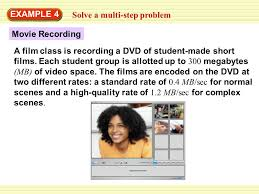 step class dvd solve a multi step problem example 4 a class is recording a