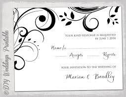 free wedding rsvp template rsvp template diy black and white scroll