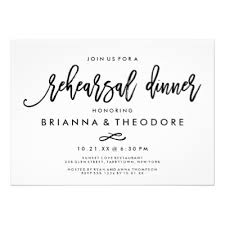rehearsal lunch invitations chic lettered gold wedding menu card zazzle