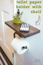 on the shelf accessories toilet paper holder shelf and bathroom accessoriesdiy show