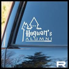 hogwarts alumni bumper sticker hogwarts school of witchcraft wizardry alumni harry potter
