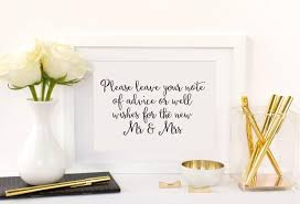 Advice To Bride And Groom Cards Advice And Well Wishes Table Sign Advice For The Bride And Groom