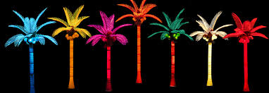 led lighted bottle palm tree pacific lights inc led lighted