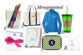 monogramed items stylish creative the best graduation gifts