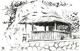 beach bar pajol sketch sketchblog of nela dunato cwtam