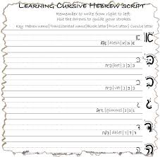 Hebrew Worksheets How To Write The Hebrew Consonants Etz Hayim Tree Of