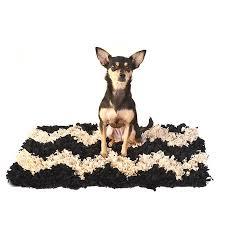 Chevron Shag Rug Jersey Shag Dog Rug Black With Beige Chevron Design