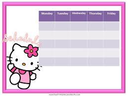 hello kitty weekly calendar template free hello kitty calendars
