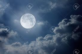 sky with moon and clouds stock photo picture and royalty