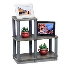 amazon com furinno 14032gy gy turn n tube accent decorative shelf