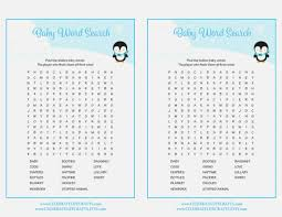 creative baby shower word search small home decoration ideas photo