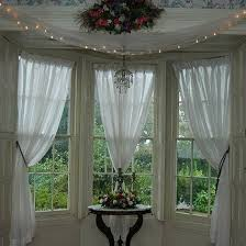 Kitchen Sheer Curtains by Best 25 Bay Window Curtains Ideas On Pinterest Bay Window