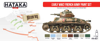 early ww2 french army paint set hataka