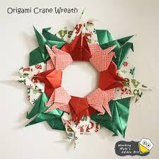 origami crane wreath working s edible