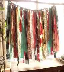 Bohemian Drapes 34x 28 Bohemian Rag Curtain Hippie Junk Gypsy