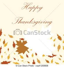 happy thanksgiving day background with beautiful autumn vector