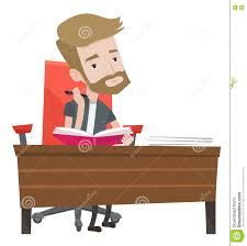 Student Writing Desk by Student Writing At The Desk Vector Illustration Stock Vector