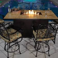 Fire Patio Table by Shop Outdoor Fire Pit Bar U0026 Counter Dining Tables Online Aminis