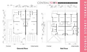 central town double storey terrace kwang tai floor plan
