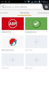 android adblock adblock browser a clean ui ad free browsing on android
