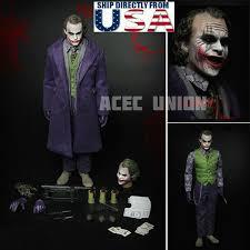 Heath Ledger Joker Halloween Costume 1 6 Joker Heath Ledger Batman Dark Knight Figure Complete