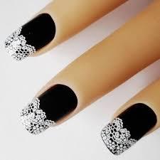 aliexpress com buy 10pcs white flower lace design nail sticker