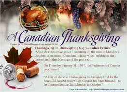 october 14th is canadian thanksgiving created by jd mitchell