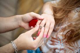 finger rings girls images A hand of a man putting a ring on the girl 39 s finger stock photo jpg