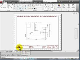 tutorial autocad line autocad 2012 tutorial 1 5 model and layout tabs acad pinterest