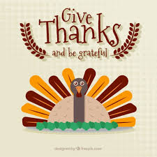 give thanks turkey vector free