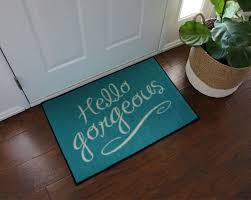 Commercial Doormat Hello Gorgeous Tiffany Blue Door Mat Floormatshop Com
