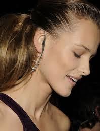 strange earrings luxury productions ear occluding accessories wang