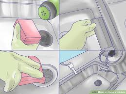 how to clean a white kitchen sink how to clean a kitchen with pictures wikihow