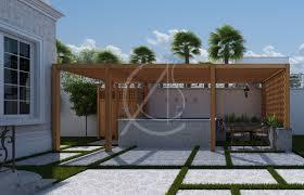classic saudi arabian villa exterior design and landscape design cas