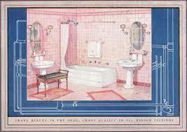 Crane Bathroom Fixtures 1924 Crane Bathroom Dainty Pink Tiled Bathroom With White Fixtures
