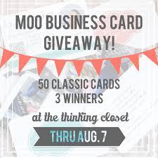 my new moo business cards u0026 giveaway u2014 the thinking closet