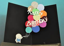 pop up birthday card pop up birthday card balloons 8 00 via etsy projects to