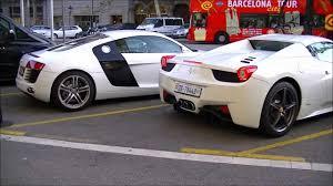 Ferrari 458 Italia White - white ferrari 458 spider start up and acceleration sound youtube