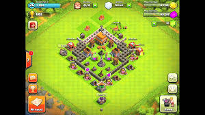 Coc Village Layout Level 5 | clash of clans defense strategy town hall level 5 2 youtube