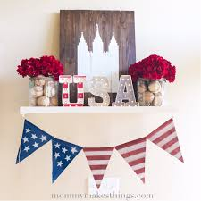 4th of july shelf decor