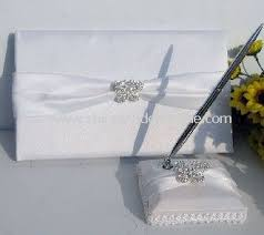 guest book and pen promotional white butterfly rhainstone guest book and pen wedding