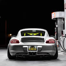 porsche widebody rear porsche cayman 987c u0026 pandem with wide body kit rotiform u0027s
