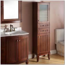 Bathroom Vanity With Linen Tower Bathroom Cabinets Bathroom Vanities Linen Armoire Linen Tower