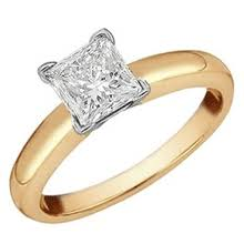 princess cut gold engagement rings yellow gold engagement rings jewelrycentral