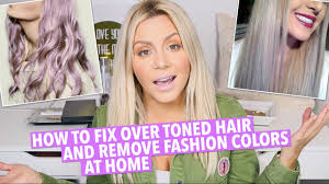 best clarifying shoo for colored hair how to fix over toned hair at home youtube
