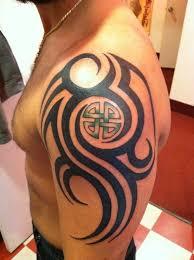 celtic tribal design on shoulder hari celtic