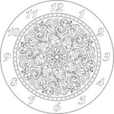 clock face vector file eps for v bit cnc carving by digital2cre8