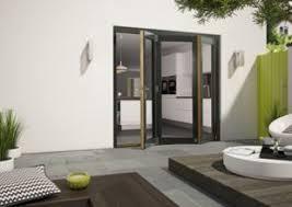 Wickes Bi Fold Doors Exterior Wickes Cairo External Aliminium Clad Oak Bi Fold Door Set Grey